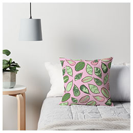 Surface pattern design - pillow-leaf