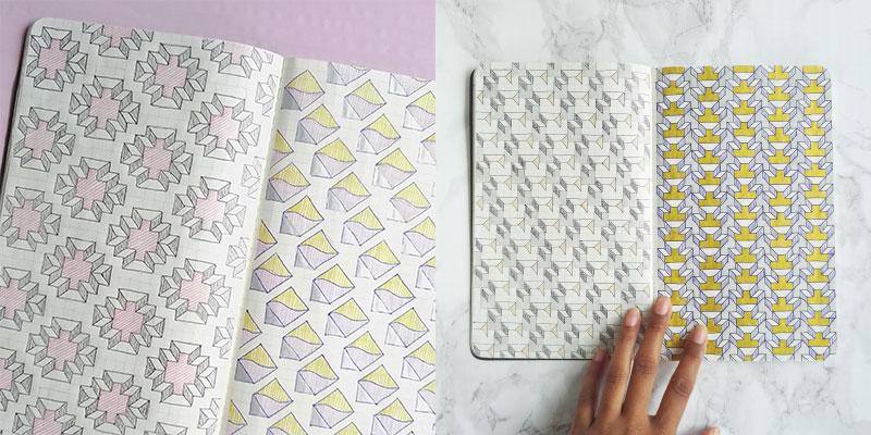Surface pattern designer's sketchbook