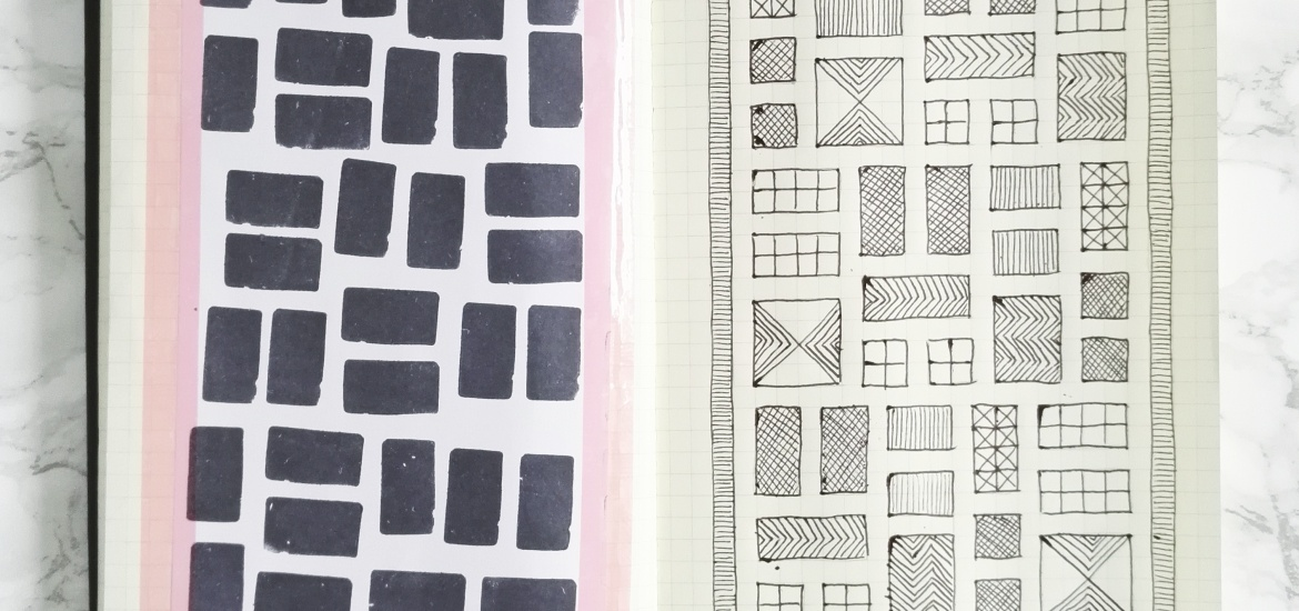 Pattern design sketchbook